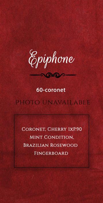 epiphone Guitar-60-coronet