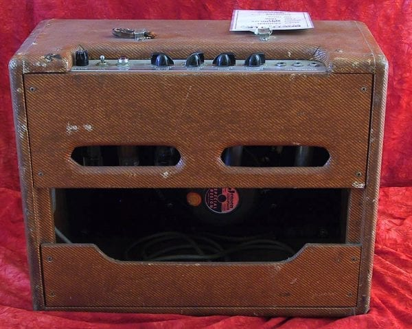 1958 Fender Vibrolux, Model 5F11, Tweed - back view