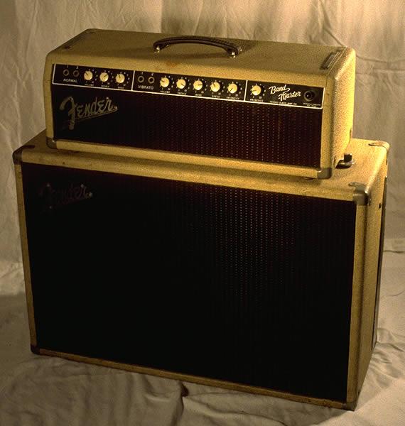 1962 Bandmaster Piggyback Vibrato, Blonde Tolex