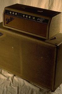 1963 Fender Bassman Piggyback, Blonde Tolex