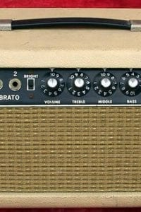 1964 Fender Showman, Model RA763 Vibrato, Black Face, Blonde Tolex