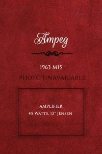 Ampeg 1963 M15 amp