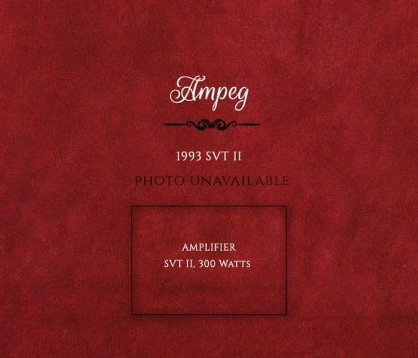 Ampeg 1993 SVT II amp