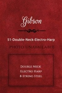 Guitar Gibson '51 Double Neck Electro Harp