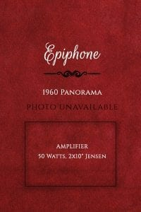 Epiphone 1960 Panorama Amplifier