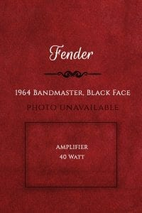 Fender 1964 Bandmaster, Black Face Amp