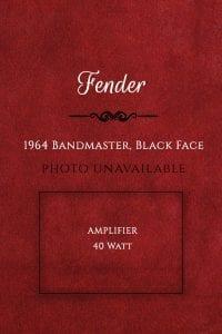 Fender 1964 Bandmaster, Black Face Amp