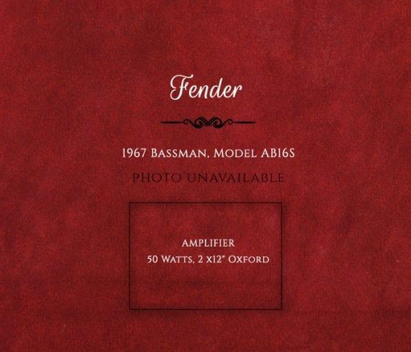 1967 Bassman, Model AB16S