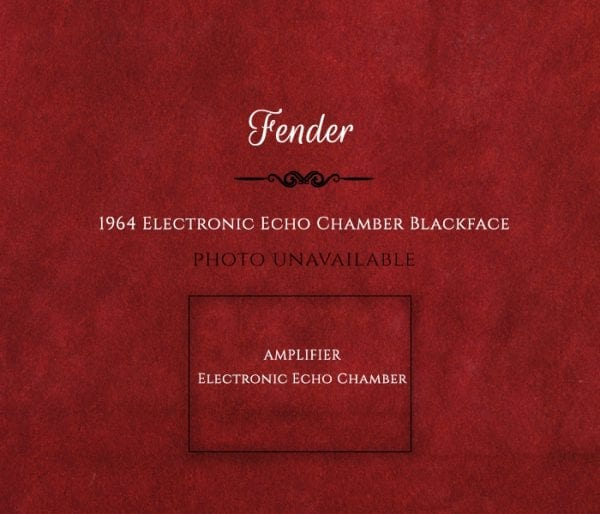 Fender 1964 Electronic Echo Chamber Blackface