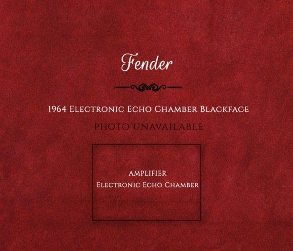 Fender 1964 Electronic Echo Chamber Blackface