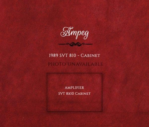 Ampeg 1989 SVT amp