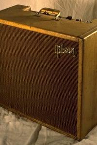 1958 Gibson Discoverer Tremolo, GA8T, Blonde Tweed
