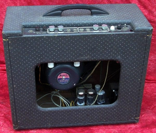 1958 Gretsch Jimmy Webster amplifier back