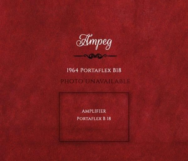 Ampeg 1964 Portaflex B18 amplifier