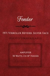 Fender 1971 Vibrolux Reverb, Silver Face