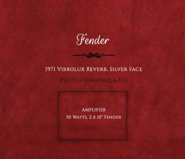 Fender 1971 Vibrolux Reverb, Silver Face